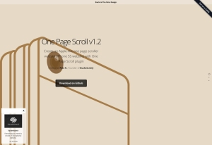 jQuery One Page Scroll by Pete R. | The Pete Design