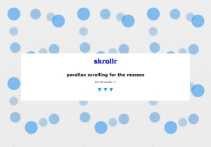 skrollr - parallax scrolling for the masses